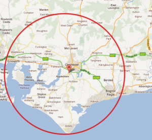 Bluefish Computer Services Chichester | Coverage Map