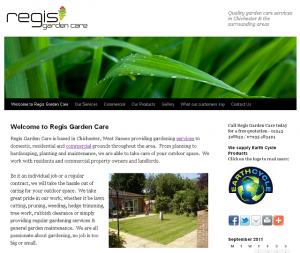 Bespoke Website Design - Regis Garden Care