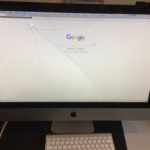 Cracked iMac front glass